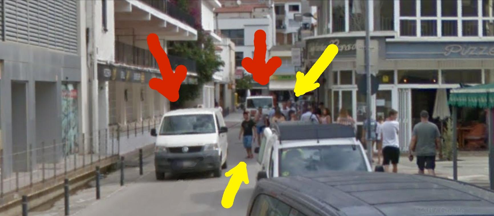 Aceras peatones torroella estartit